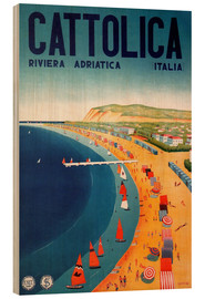 Wood print  Italy - Cattolica Riviera - Travel Collection