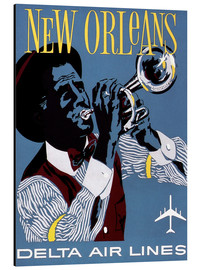 Aluminium print  Fly to New Orleans