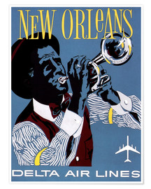 Premium poster  Fly to New Orleans