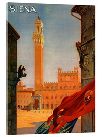 Acrylic print  Siena, Tuscany in Italy - Travel Collection