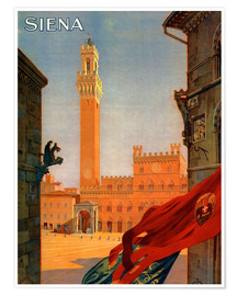 Premium poster  Siena, Tuscany in Italy - Travel Collection