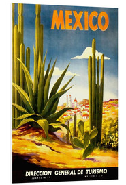 Foam board print  Mexico cactus - Travel Collection