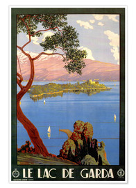 Premium poster  Le Lac de Garda, Italy - Travel Collection