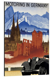 Aluminium print  Motoring in Germany - Advertising Collection