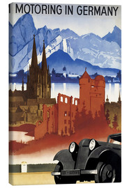 Canvas print  Motoring in Germany - Advertising Collection