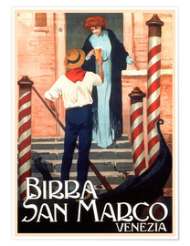 Premium poster  Italy - Birra San Marco Venice - Travel Collection