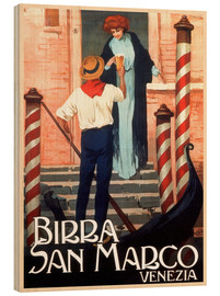 Wood print  Italy - Birra San Marco Venice - Travel Collection