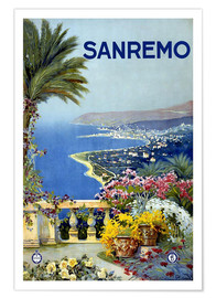 Premium poster  Sanremo, Italy - Travel Collection