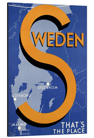 Aluminium print  Sweden - this is the place - Travel Collection