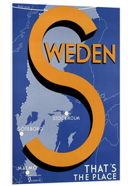 Foam board print  Sweden - this is the place - Travel Collection