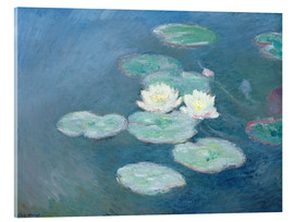 Acrylic glass  Waterlilies, Evening - Claude Monet