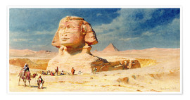 Premium poster  The Sphinx of Giza, 1874 - Carl Haag