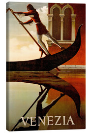 Canvas print  Gondolier in Venice - Travel Collection