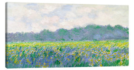 Canvas print  Field of Yellow Irises in Giverny - Claude Monet
