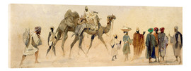 Acrylic print  Departure to the desert, 1858 - Carl Haag