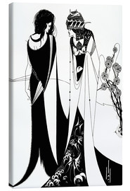 Canvas print  Salome with her mother, Herodias - Aubrey Vincent Beardsley