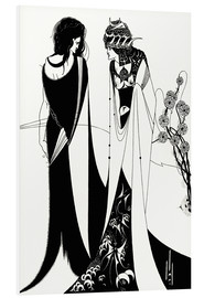 Foam board print  Salome with her mother, Herodias - Aubrey Vincent Beardsley
