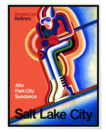 Premium poster  Ski in Salt Lake City - Travel Collection