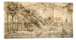 Acrylic print  Perspective Study for the background of the Adoration of the Magi - Leonardo da Vinci