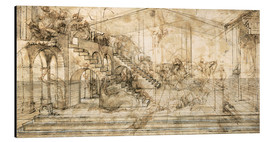 Aluminium print  Perspective Study for the background of the Adoration of the Magi - Leonardo da Vinci