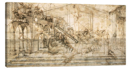 Canvas print  Perspective Study for the background of the Adoration of the Magi - Leonardo da Vinci