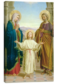 Canvas print  Holy Family, 1898 - Alessandro Franchi