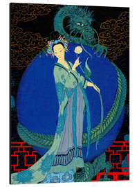Aluminium print  Woman with a kite - Georges Barbier