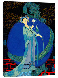 Canvas print  Woman with a kite - Georges Barbier