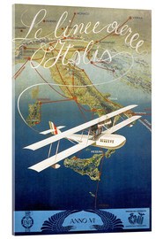Acrylic glass  Italian airline - ScrapNow