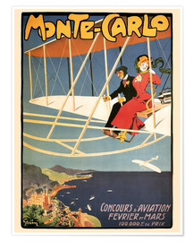 Premium poster Flying over Monte Carlo