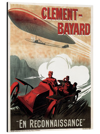 Aluminium print  Clement Bayard Automobile - Advertising Collection