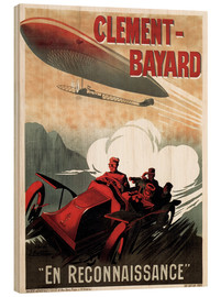 Wood print  Clement Bayard Automobile - Advertising Collection