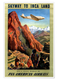 Premium poster  Skyway to Inca Land - Travel Collection