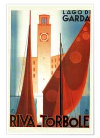 Premium poster  Italy - Riva Torbole (Lago di Garda) - Travel Collection