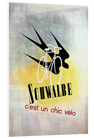 Foam board print  Bicycles - Schwalbe, cest un chic velo - Advertising Collection