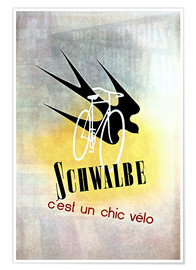 Premium poster Bicycles - Schwalbe, cest un chic velo