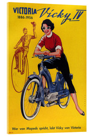 Acrylic print  Who's talking about mopeds, praises Vicky Victoria - Advertising Collection