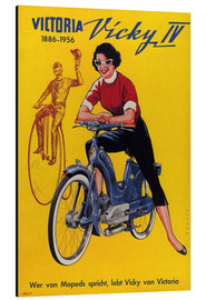 Aluminium print  Who's talking about mopeds, praises Vicky Victoria - Advertising Collection