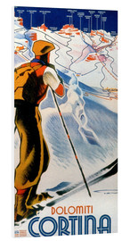 Foam board print  Skiing in Cortina, Dolomites - Travel Collection