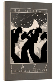 Wood print  New Orleans - Jazz  - Entertainment Collection