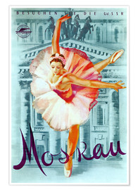 Premium poster  Moscow - Russian ballet - Advertising Collection