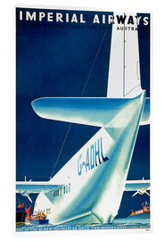 Acrylic print  Imperial Airways - seaplane - Travel Collection