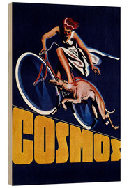 Wood print  Cosmos bicycles - Advertising Collection