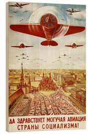 Wood print  Aircraft parade on Moscow - Advertising Collection