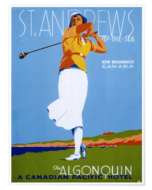 Premium poster  St. Andrews - Golf - Advertising Collection