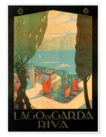 Premium poster  Italy - Riva del Garda - Travel Collection
