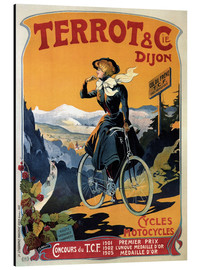 Aluminium print  Terrot & Cie Dijon bicycles and motorcycles - Advertising Collection