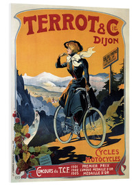 Foam board print  Terrot & Cie Dijon bicycles and motorcycles - Advertising Collection