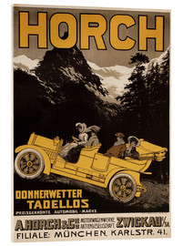 Acrylic print  Horch cars - Golly impeccable - Advertising Collection
