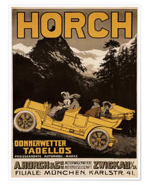 Premium poster  Horch cars - Golly impeccable - Advertising Collection